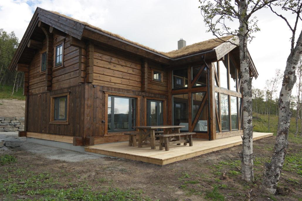Stor hytte bygget av Geilo Laft på Geilo