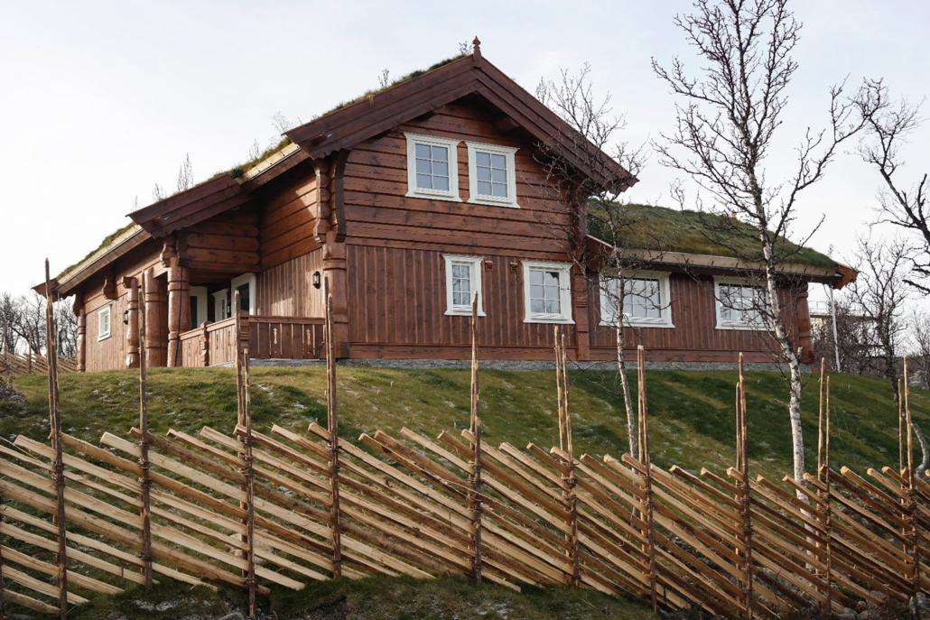 """Standard hyttemodell """"Kikut"""" bygget av Geilo Laft AS"""